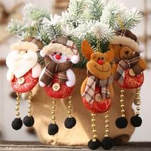 4pcs 2019 Merry Christmas Ornaments Christmas Gift Santa Claus Snowman Tree Toy Doll Hang Decorations for home Enfeites De Natal рождественские украшения christmas stocking 7 enfeites