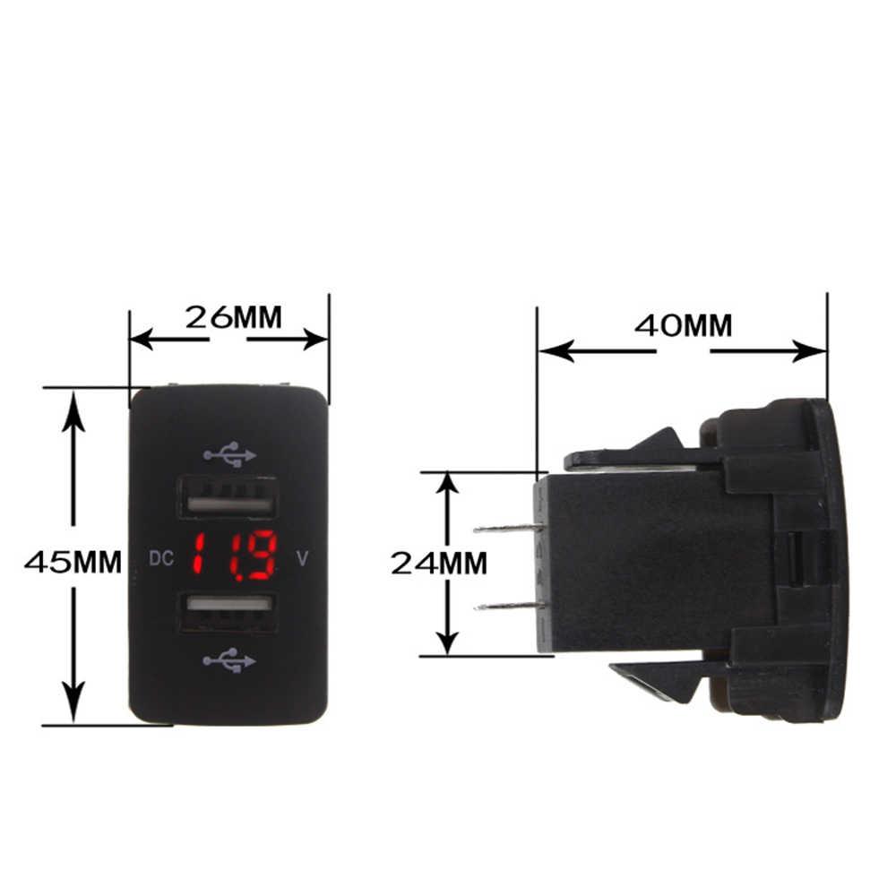 12V 24V Dual USB Auto Ladegerät Port Auto Adapter LED Voltmeter Buchse Für Honda CIVIC CROSS CRV ODYSSEY