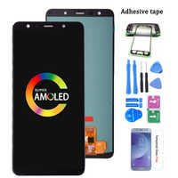 Super Amoled For Samsung Galaxy A7 2018 A750 SM-A750F LCD Display with Touch Screen Digitizer Assembly For Samsung A750 LCD