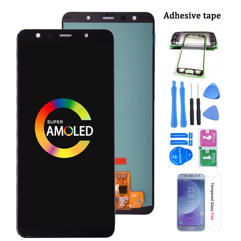 Super Amoled For <font><b>Samsung</b></font> <font><b>Galaxy</b></font> <font><b>A7</b></font> <font><b>2018</b></font> A750 SM-A750F LCD <font><b>Display</b></font> with Touch Screen Digitizer Assembly image