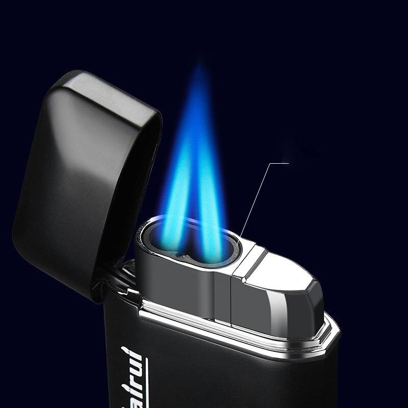 Большая газовая зажигалка, Бутановая турбозажигалка, зажигалки для сигарет, металлические зажигалки, аксессуары для курения, гаджеты для м...
