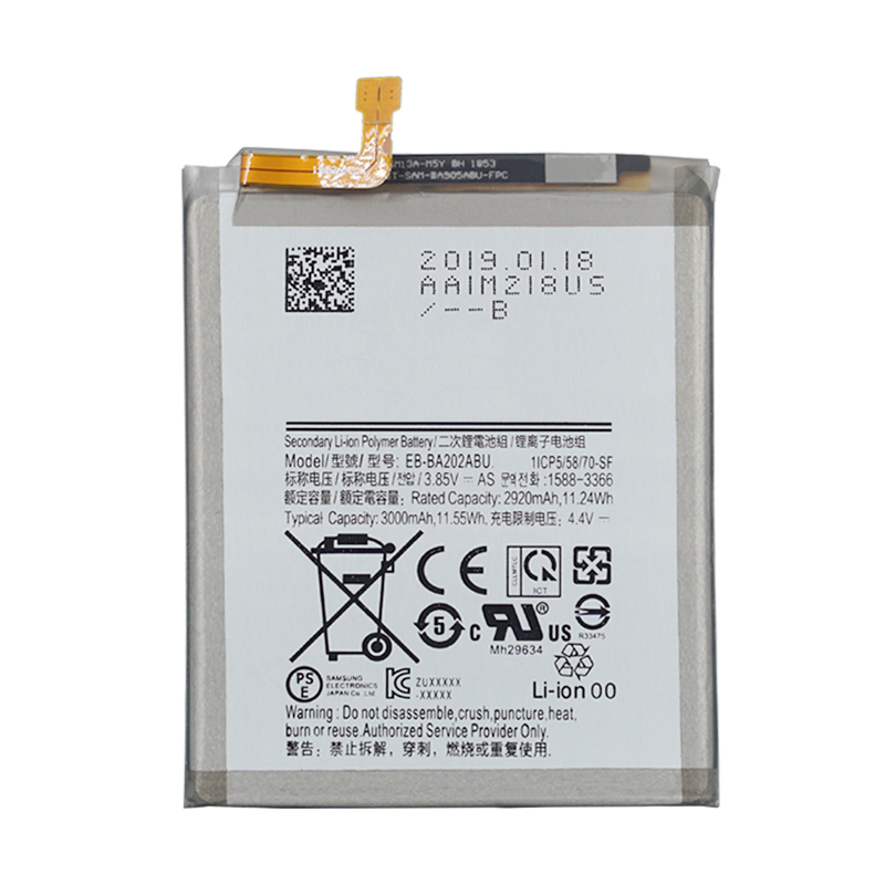 Original EB-BA202ABU Battery For Samsung Galaxy Samsung Galaxy A20e Replacement Phone Battery 3000mAh