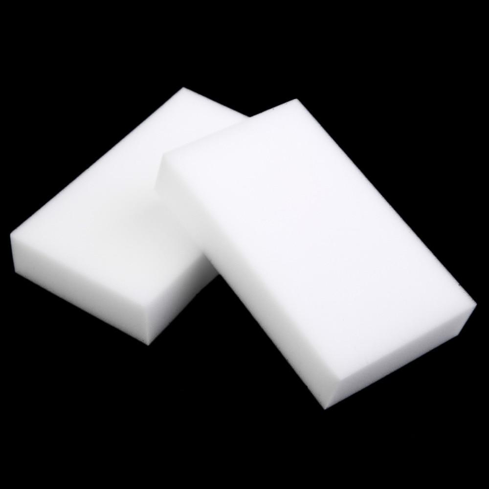 White Magic Cleaning Dishwashing Scrub Compressed Eraser Melamine Sponge Kitchen Bathroom Accessories Items 1Pcs 100x60x20mm F|Sponges & Scouring Pads| |  - title=