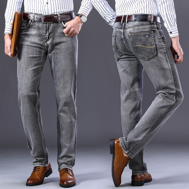 Stretch Regular Fit Jeans Business Casual Classic Style  5