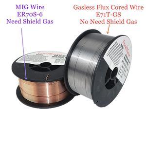Image 4 - Fio cored gasless do fluxo do fio ER70S 6 da soldadura de mig E71T GS 1kg 0.6/0.8/0.9mm escudo do gás ou nenhum material de soldadura do aço carbono do gás
