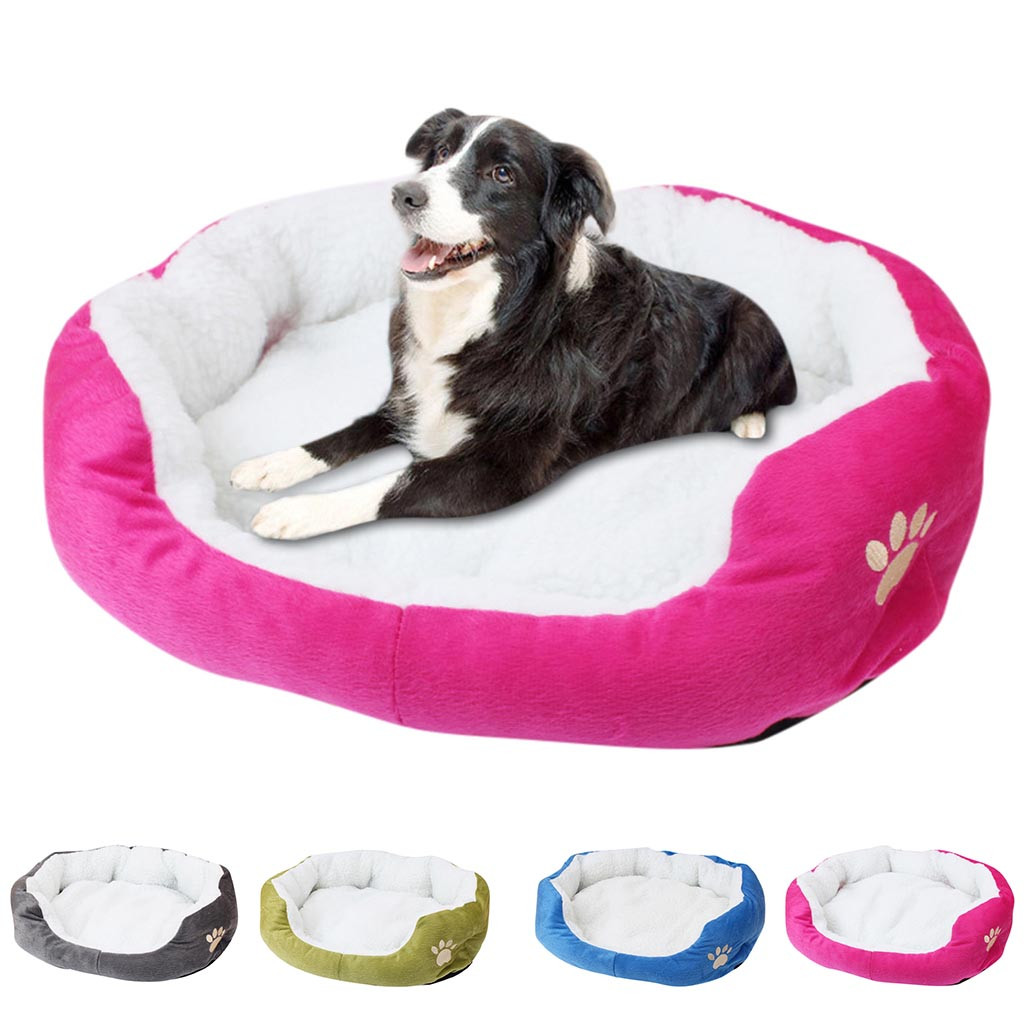 Machine Washable Pet Beds for Puppies and Cats to Keep Pets Cozy and Warm Made of Fleece Material