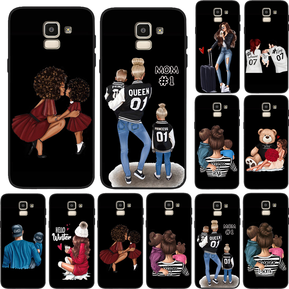 <font><b>Case</b></font> <font><b>Luxury</b></font> Girl Dad Mom Boys Super Baby Queen For <font><b>Samsung</b></font> Galaxy S9 <font><b>Case</b></font> S8 S7 S10 S11E J3 J5 J7 J4 <font><b>J6</b></font> J8 <font><b>2018</b></font> Plus Cover Etui image
