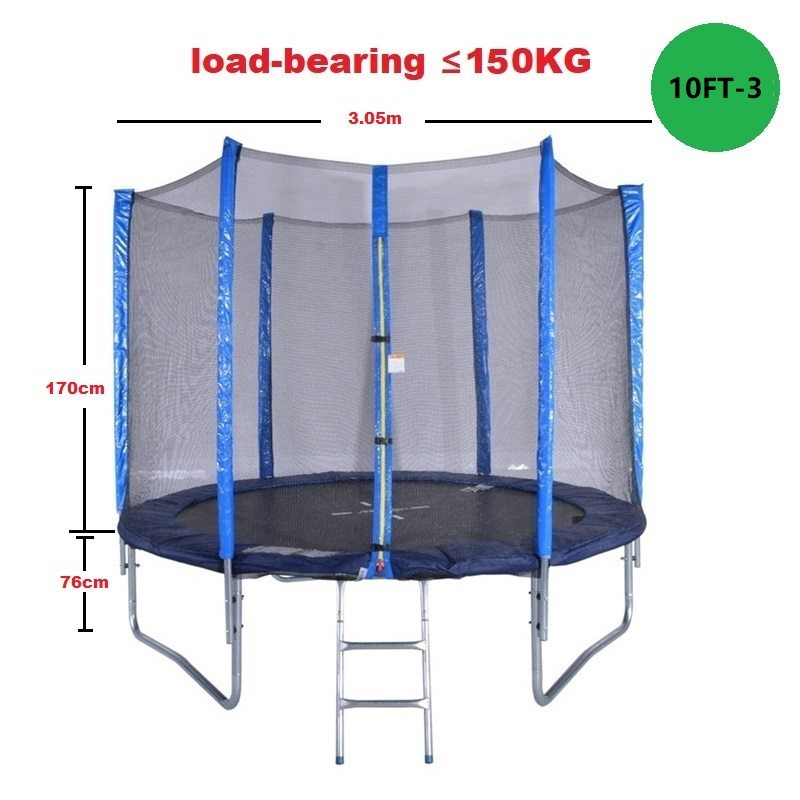 Round Trampoline with Enclosure Net W// Spring Pad Ladder Bouncing Bed