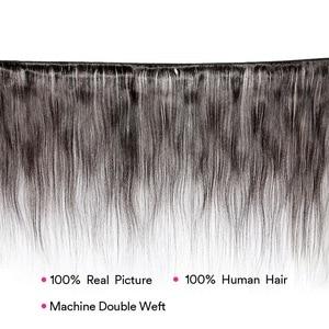 Image 2 - Ms Lula Extension indienne non remy lisse, longue trame de cheveux, 3/4 humains, longue couleur naturelle, 10 à 40 pouces, lots de 1/100%
