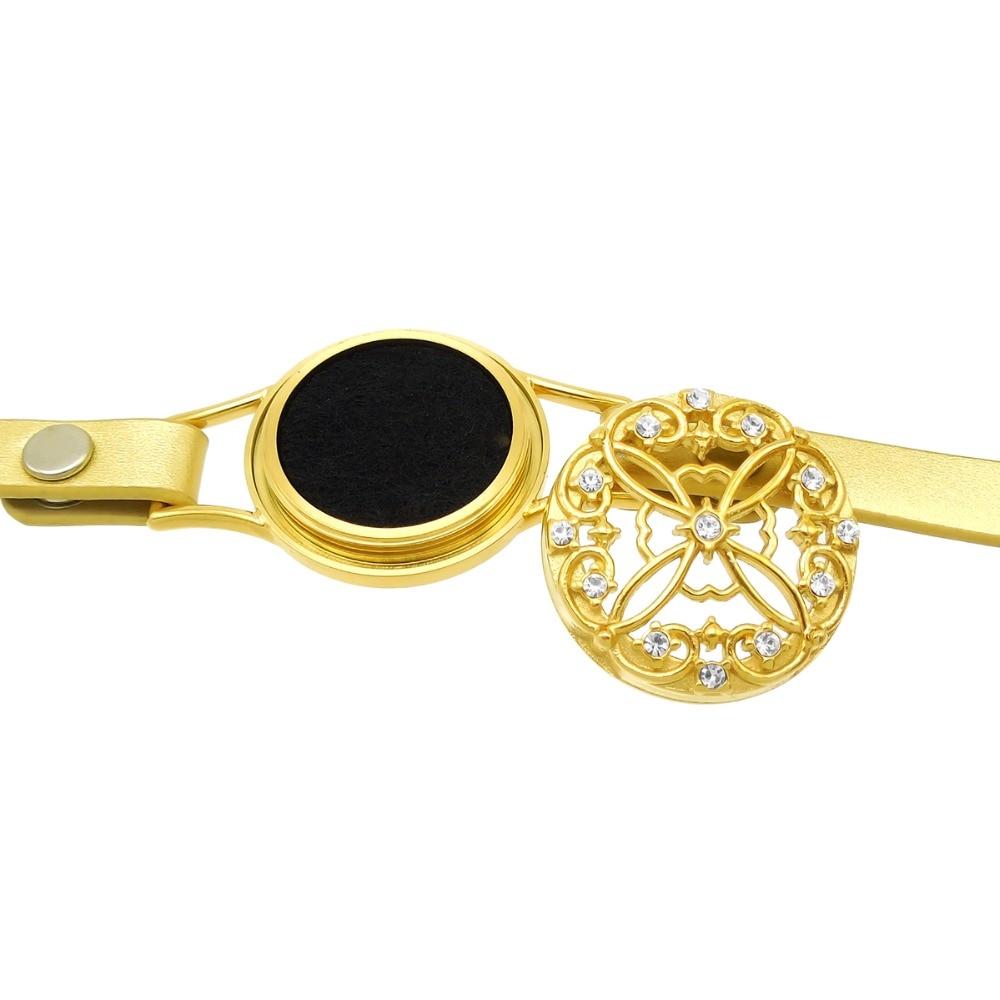 ZP-BS610-6 Diffuser Leather Locket Bracelet