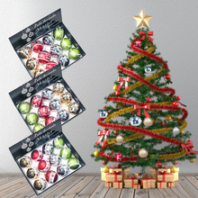 12Pcs/lot Multicolor Plastic Ball Christmas Tree Ornaments Hanging Pendants Craft Decoration for Home Party