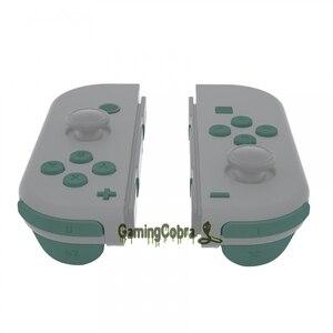 Image 4 - אורן ירוק ABXY כיוון מפתחות SR SL L R ZR ZL הדק מלא סט כפתורי לתקן ערכות עבור NS מתג שמחה קון