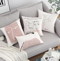 Morandi abstrakcyjny wydruk Lady Face poduszka bawełniana pokrowiec zestaw wypoczynkowy poszewka na poduszkę salon Home akcesoria dekoracyjne poszewki na poduszki Poszewki na poduszki Dom i ogród -