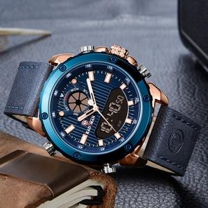 Image 2 - KADEMAN New Watch Men Fashion Sport Quartz Men Watch Top Luxury Brand Date Alarm Leather Strap Waterproof 3ATM Relogio Masculino