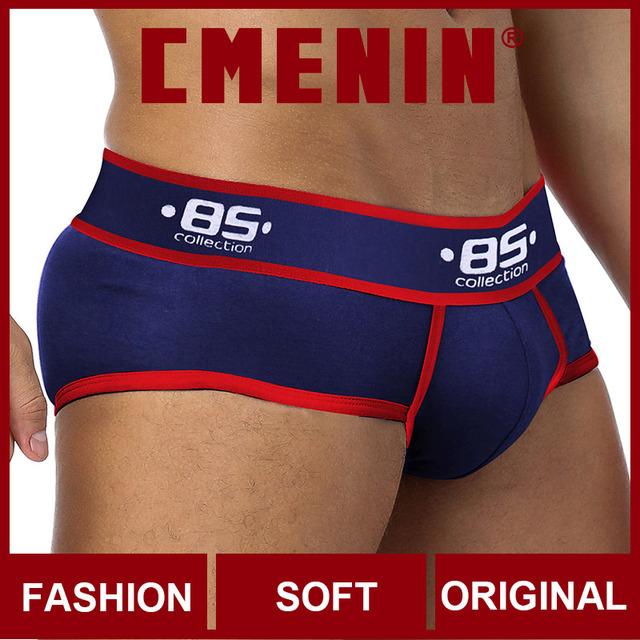 CMENIN BS bawełna wygodne męskie majtki bielizna spodenki list bielizna męska Sexy Gay bielizna męska Bikini męskie majtki Sexi tanie i dobre opinie COTTON spandex Patchwork Figi BS39 Qucik-Dry Briefs Male Panties Gay Underwear Sexy Men Briefs