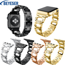 Rhinestone Strap Suitable for Apple Watch 38mm 42mm 40mm 44mm band for apple watch series 5 4 3 2 1 stainless steel bracelet stainless steel strap for apple watch band rhinestone diamond band 38mm 42mm series 3 2 1 for apple watch 40mm 44mm series 4 5