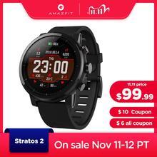 Originele Amazfit Stratos Smartwatch Smart Horloge Bluetooth Gps Calorie Count Heart Monitor 50M Waterdicht Voor Android Ios Telefoon