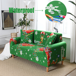 Waterproof Sofa Cover Christmas Style,Non-Slip Stretch L Shape Corner With Armrests 1 2 3 4 Seater Couches Living Room