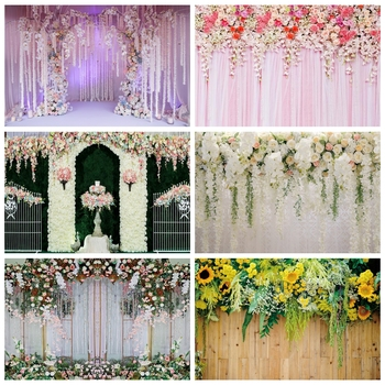 Yeele Wedding Ceremony 3D Flowers Decor Tree Purple Photography Backdrops Personalized Photographic Backgrounds For Photo Studio yeele flowers vinyl photographic backgrounds baby shower photo newborn photography backdrops wedding photocall for photo studio