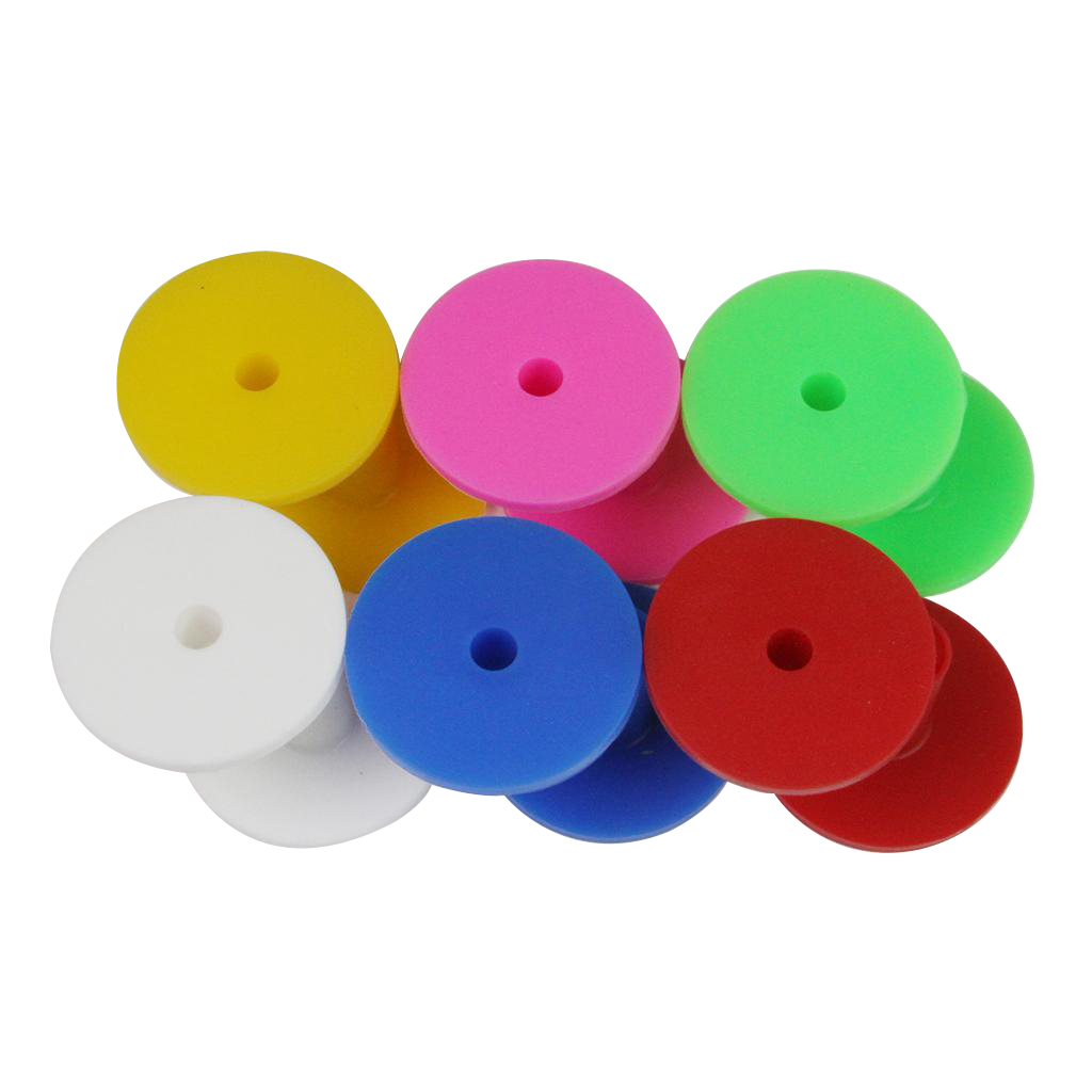 12pcs Golf Range Tees Colorful Rubber Range Mat Tee 38mm 6 Colors