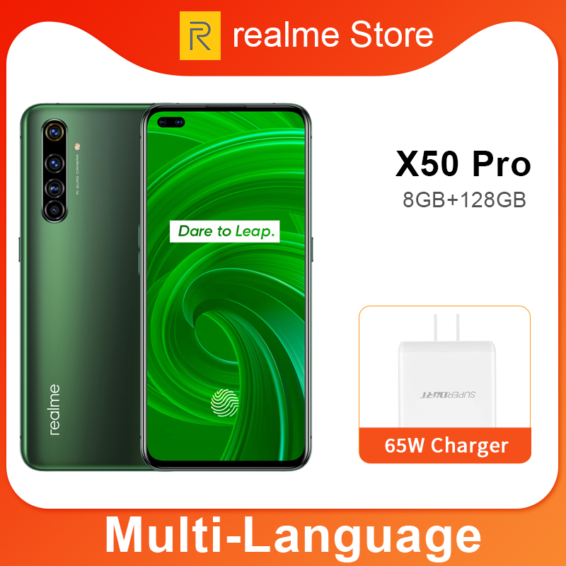 realme X50 Pro X50 5G 8GB 128GB 5.44 90Hz SuperAmoled Screen Moblie Phone Snapdragon 865 Cellphone 65W Superdart Charge|Cellphones|   - AliExpress