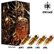 DKLAB Warrior Tattoo Cartridge Needles,Mix Size Multi Tattoo Needle Cartridges,0.35/0.30mm RL / RS / RM(MC) / M1,50pcs Pack