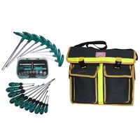 Electrician Hardware Toolkit Shoulder Bag Waterproof Oxford Cloth Multi Organize Pockets Storage Pouch Portable Worker Tool