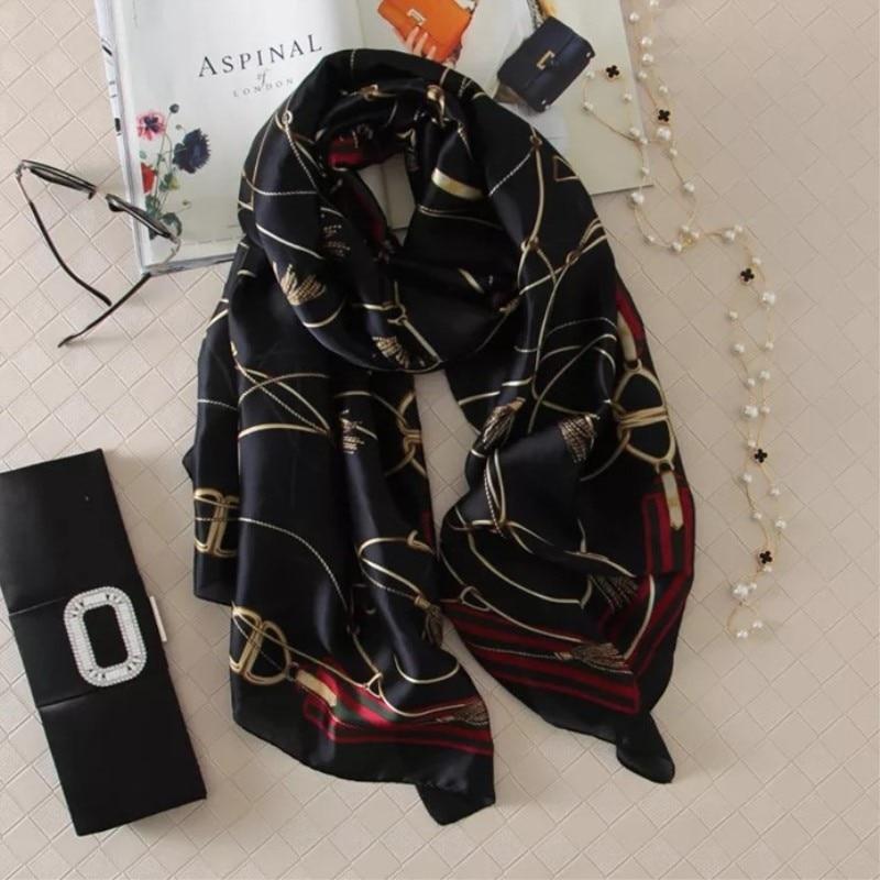 women silk   scarf   female classic Leopard   scarves   ladies beach   wrap   chiffon shawl soft sunscreen foulard muffler bandanna pareo
