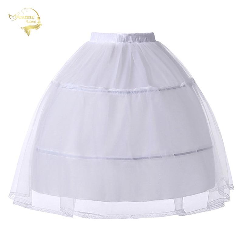 Cosplay Party Lolita Petticoats Ballet Rockabilly Crinolines For Short Prom Dress Ball Gown Underskirt 2 Hoops Skirt Slip Woman