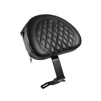 Black Driver Backrest Motorcycle Adjustable Plug-In Rider Backrest with Pocket Fit for Fatboy Heritage Softail 2007-2017