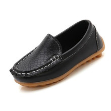 Toddler Fashion Soft Loafers Children Casual Boat Flats Boys Girls Wedding Moccasins Slip-on Leather Shoes