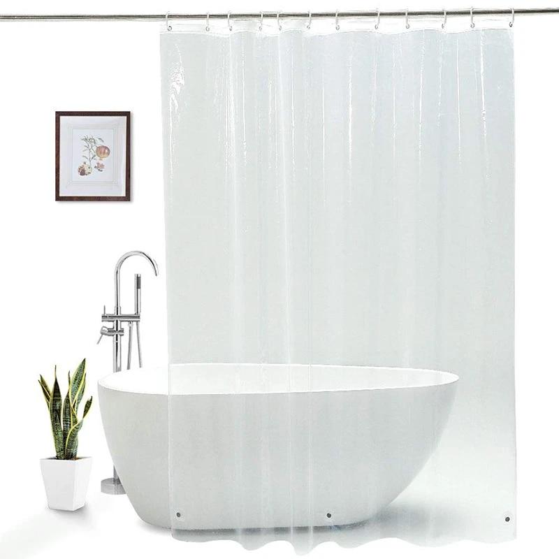ufriday clear shower curtain eva waterproof bathroom curtain for home hotel eco friendly 90x180cm semi transparent bath curtain
