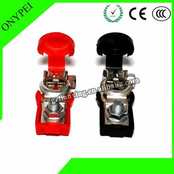 Link Clip Clamp Battery Terminal Connector Clip Clamp Cover Long lasting For Most Cars Ships Truck Batterie image