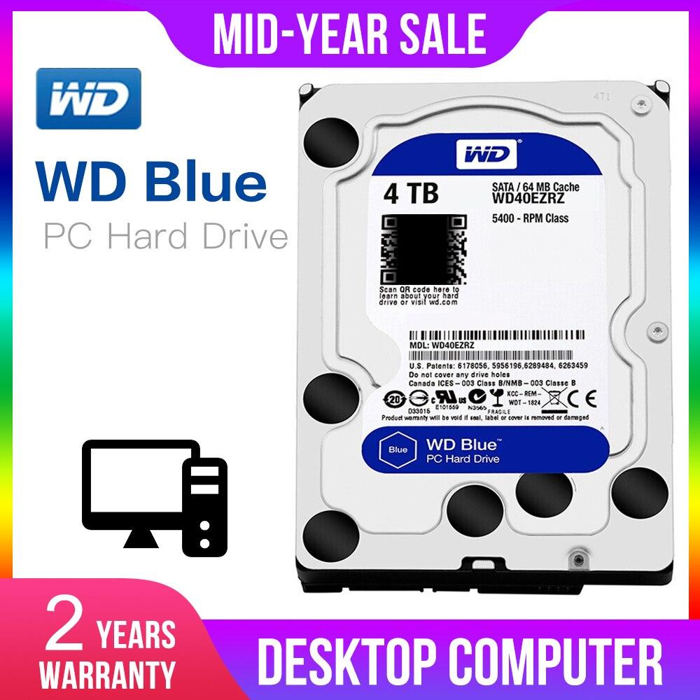 WD Original bleu 4 to Hdd Sata 3.5 ''Disque Dur interne Disque Dur Disque Dur de bureau HDD pour PC WD40EZRZ Western Digital