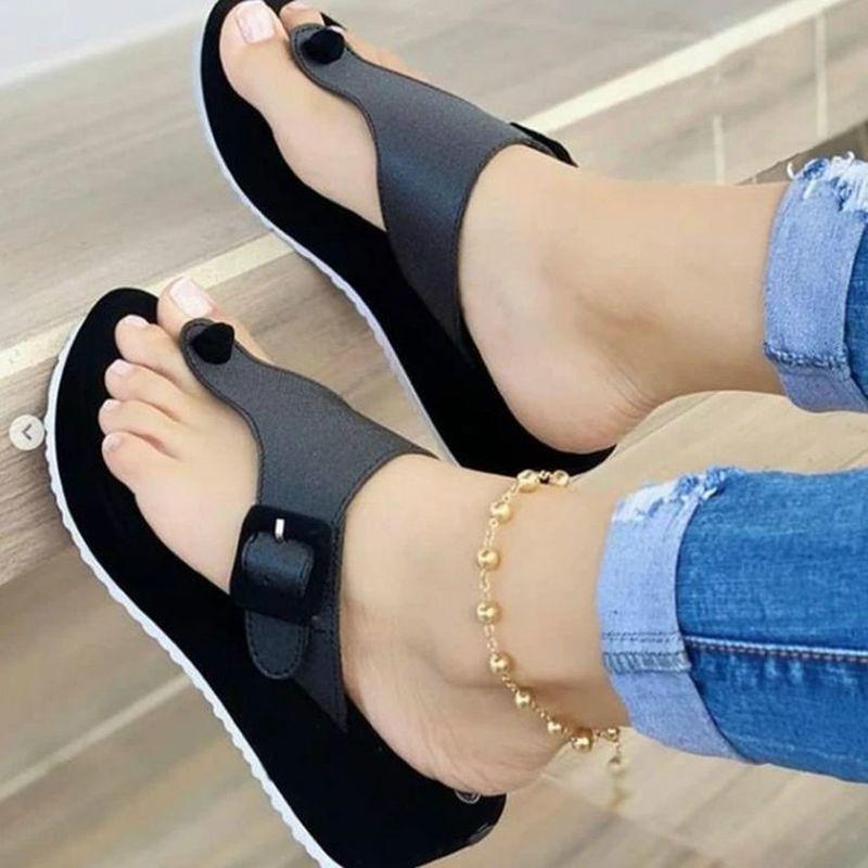 New Solid Casual Sports Women Slippers 2021 Summer Fashion Streetewear Women's Sandals Oversized Black Red Women's Flip-flops 43
