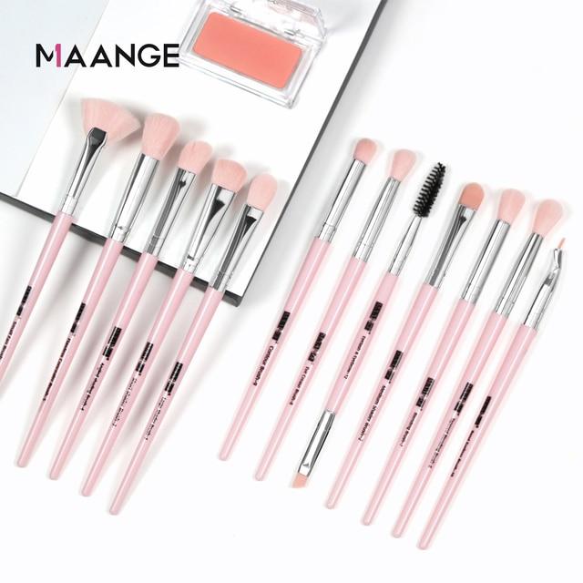 MAANGE 3/5/12Pcs Makeup Brushes Tool Set Cosmetic Powder Eye Shadow Foundation Blush Blending Beauty Make Up Brush Set Drop ship 3