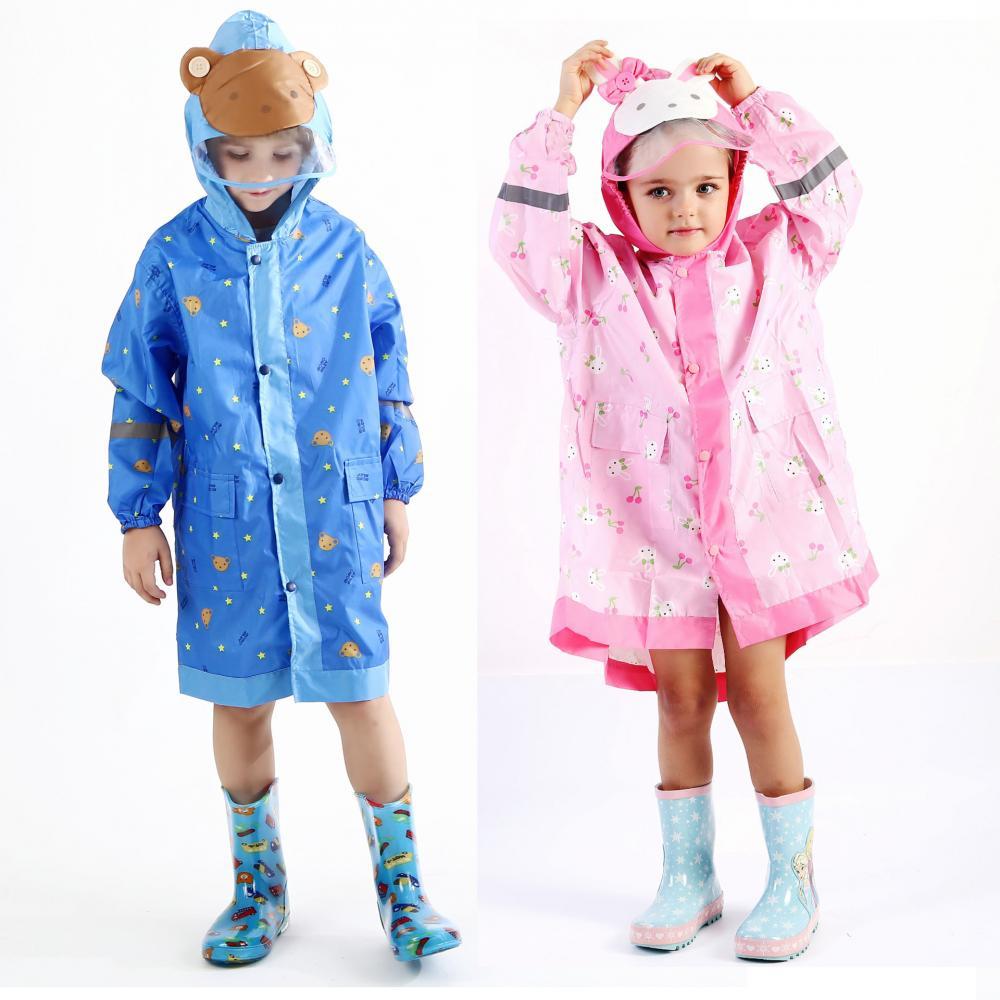 1pcs Oxford Children Raincoat Star Pattern Waterproof Rain Coat Student Rainwear/Rainsuit Outdoor Hiking Capa De Chuva Rain Gear|Raincoats| |  - title=
