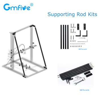 GmFive Upgrade 3D Printer Parts Supporting Rod Kit Set 300MM 500MM Pull Rod for Creality 3D CR-10 CR-10S CR-10 S5 Printer Z Axis support resume after power off creality cr 10 mini 3d printer large prusa i3 kit diy 300 220 300mm desktop education 3d printer