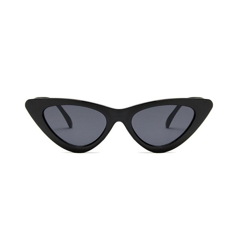 2018 Triangle Vintage Cute SexyRetro Cat's Eye Sunglasses Women Small Black White  Cheap Sun Glasses Red Female UV400