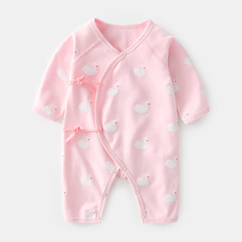2020 New Born Clothing For Girls Baby Wear Clothing One-piece Infant Girl Gift Clothes Monk Rompers Cotton Jumpsuit For 0-12 M