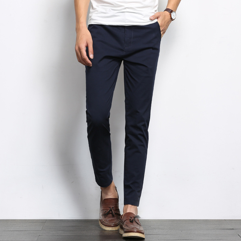 Korean-style Men's Wear Men's Casual Pants 2018 Spring And Summer New Style Youth Slim Fit Pure Cotton Men's Trousers Man's Nint