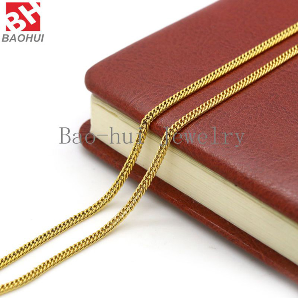 stainless steel necklace gold bofee