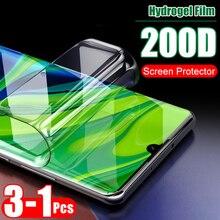 3-1pcs 200D Curved Full Protective Hydrogel Film For Xiaomi Mi A3 Lite 9 SE Note 10 Pro 9T CC9 E HD Screen Protector Soft Film
