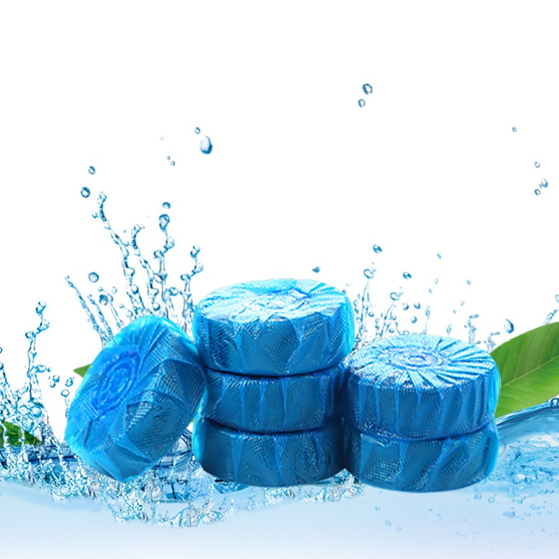 10Pcs/Pack Toilet Automatic Cleaning Blue Bubble Home Bathroom Deodorizer Block Household Restroom Fragrance Supplies 2019NEW