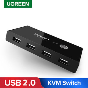 Ugreen USB Switch KVM Switch USB 2.0 3.0 Printer Box 2 In 4 Out Computer Peripherals KVM Switches for PC Moniter USB Sharing Box