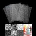 6 шт. Инструменты для выпечки, печенье, кекс, коврик для текстуры шин, прозрачная текстура, Цветочная текстура, 25,2*17,6 см