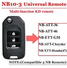 Livraison gratuite (1 pièce) NB10 universel multi fonctionnel kd télécommande 3 boutons NB série clé pour KD900 URG200 télécommande maître