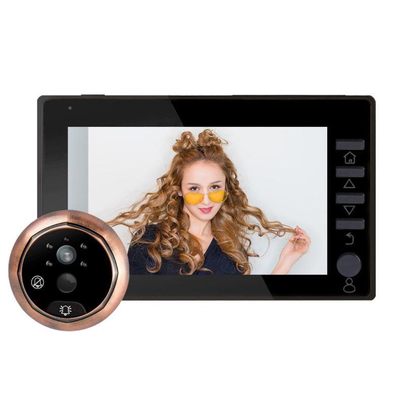 Digital Door Viewer Doorbell 4.5Inch IPS Screen Night Vision Motion Sensor Monitor Security Camera Digital Door Viewer Designed
