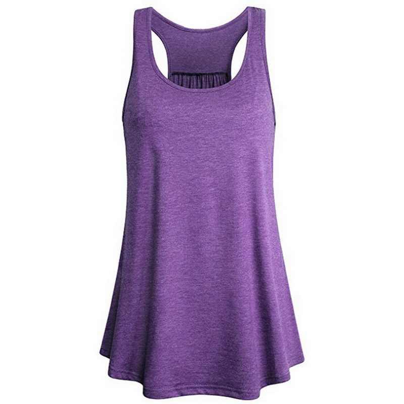 2020 kobiet lato w kształcie litery I tył kamizelki bezrękawniki Running sportowa koszula Gym top do jogi luźne bez rękawów koszykówka mujer Jogging kamizelki