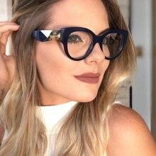 Leopard Glasses Myopia-Nerd Frame Clear-Lens Fake-Designer Women LONSY for Square Sexy